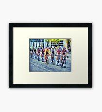 chef de vélo Framed Print