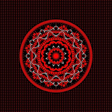 Mandala 009 Red White Black by creativewear