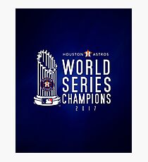 Houston Astros Champions 2017 Photographic Print