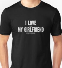 b791c20b I Love It When My Girlfriend Lets Me Play Video Games Slim Fit T-Shirt