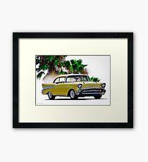 1957 Chevrolet Bel Air Two-Door Hardtop I Framed Print