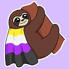 Non-Binary LGBTQ* Pride Sloth by riotcakes