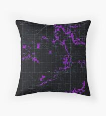 USGS TOPO Map Indiana IN Romney 160234 1961 24000 Inverted Throw Pillow