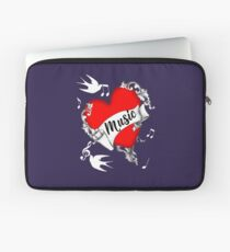 Tattoo Design Red Love Heart Music Lovers Cool Graphic Laptop Sleeve