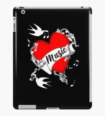Tattoo Design Red Love Heart Music Lovers Cool Graphic iPad Case/Skin
