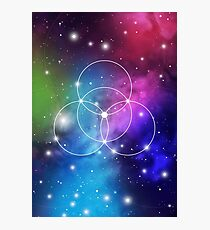 Flower of Life on Space Background Photographic Print