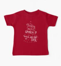 Christmas Is Too Sparkly Baby Tee