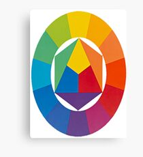 Bauhaus colour wheel Canvas Print