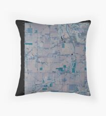 USGS TOPO Map Indiana IN Romney 20100610 TM Inverted Throw Pillow