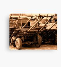 Wood cart p101bw Canvas Print
