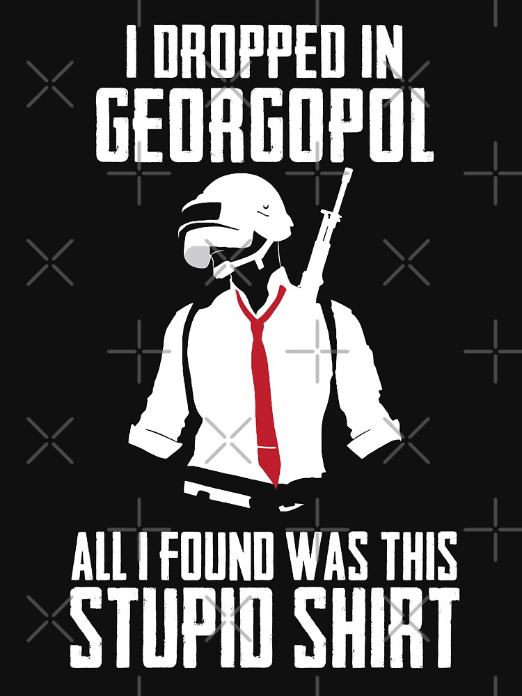 PUBG - Dropped in Georgopol - PlayerUnknown's Battlegrounds - Short-Sleeve Unisex T-Shirt by theodoros20