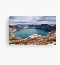 Quilotoa Crater Lake - Ecuador Canvas Print