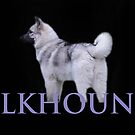Elkhound (Lilac Wording) by CreativeEm