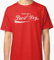 Forever A Devil Dog USMC Marine Corps Coke Parody Design Classic T-Shirt