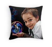 Bubble Boy Throw Pillow