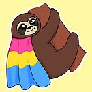 Pansexual LGBTQ* Pride Sloth by riotcakes