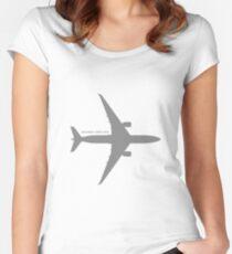 A350 - Medium Grey Design Women's Fitted Scoop T-Shirt