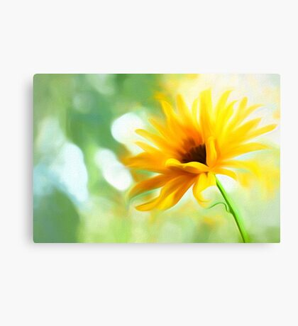 "And The Yellow Flower Whispered (from ""Painted Flowers"" collection) Canvas Print"