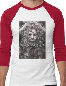 girl, invisible monsters Palahniuk, horror, face, dark, eyes Men's Baseball ¾ T-Shirt