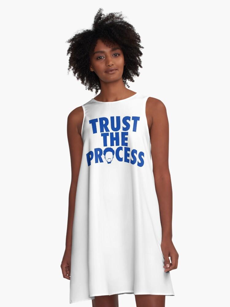 Trust The Process 2 A-Line Dress Front