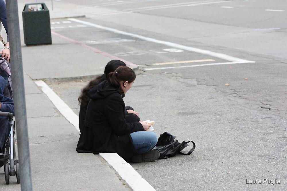 Sitting on the Sidewalk by Laura Puglia