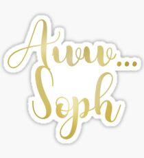 aww, soph Sticker