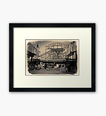 People at Coney Island by the Wonder Wheel  Framed Print