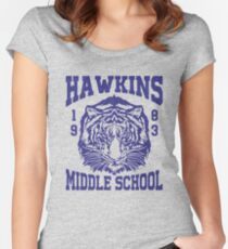 Stranger Things - Hawkins Middle School (mugs, shirts, and more merch) Women's Fitted Scoop T-Shirt