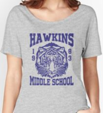 Stranger Things - Hawkins Middle School (mugs, shirts, and more merch) Women's Relaxed Fit T-Shirt