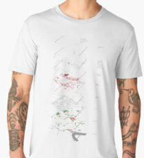 Deconstructing the Lea Valley #abstract #lines #shapes #mapping #cartography #map #exploded #city #urban #london Men's Premium T-Shirt