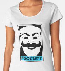 FSOCIETY - Blue Women's Premium T-Shirt