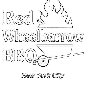 Distressed Red Wheelbarrow BBQ by 4swag