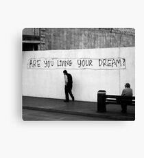 Living (in mono) Canvas Print