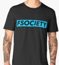 FSOCIETY - Banner Blue Men's Premium T-Shirt