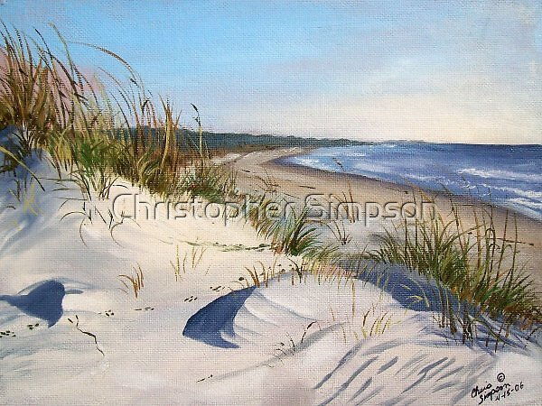 Plein Air at Sea Camp on Cumberland Island by Christopher Simpson