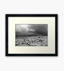 Burren thunderstorm Framed Print