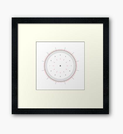 Radians Vs Degrees Clock - v001 Framed Print