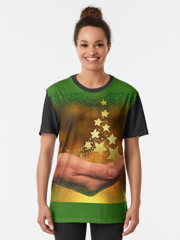 Alternate view of Handing Over Christmas Joy Graphic T-Shirt