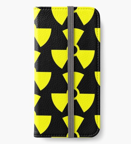 Warning Radiation T iPhone Wallet