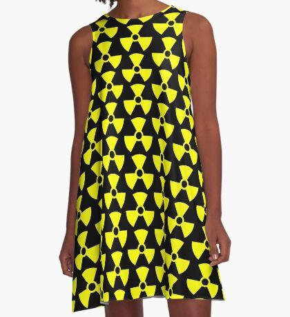 Warning Radiation T A-Line Dress