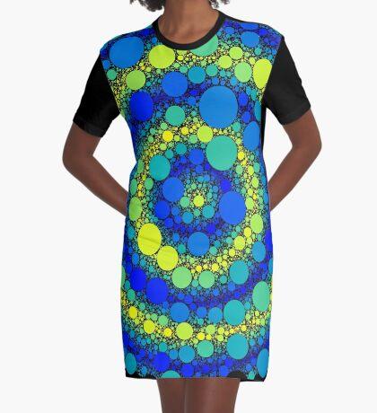Circle Packing 006 Graphic T-Shirt Dress
