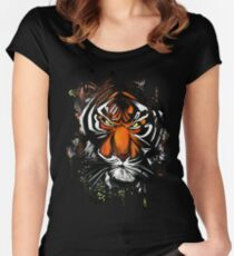 Tiger Stare Women's Fitted Scoop T-Shirt