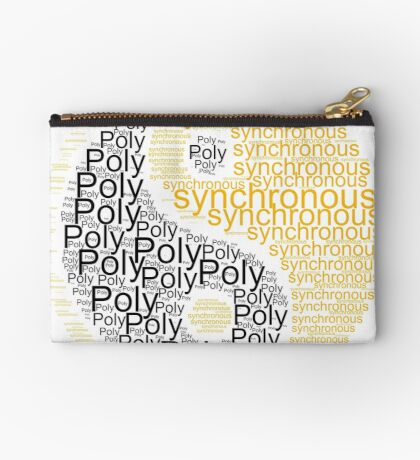 Polysynchronous II Zipper Pouch