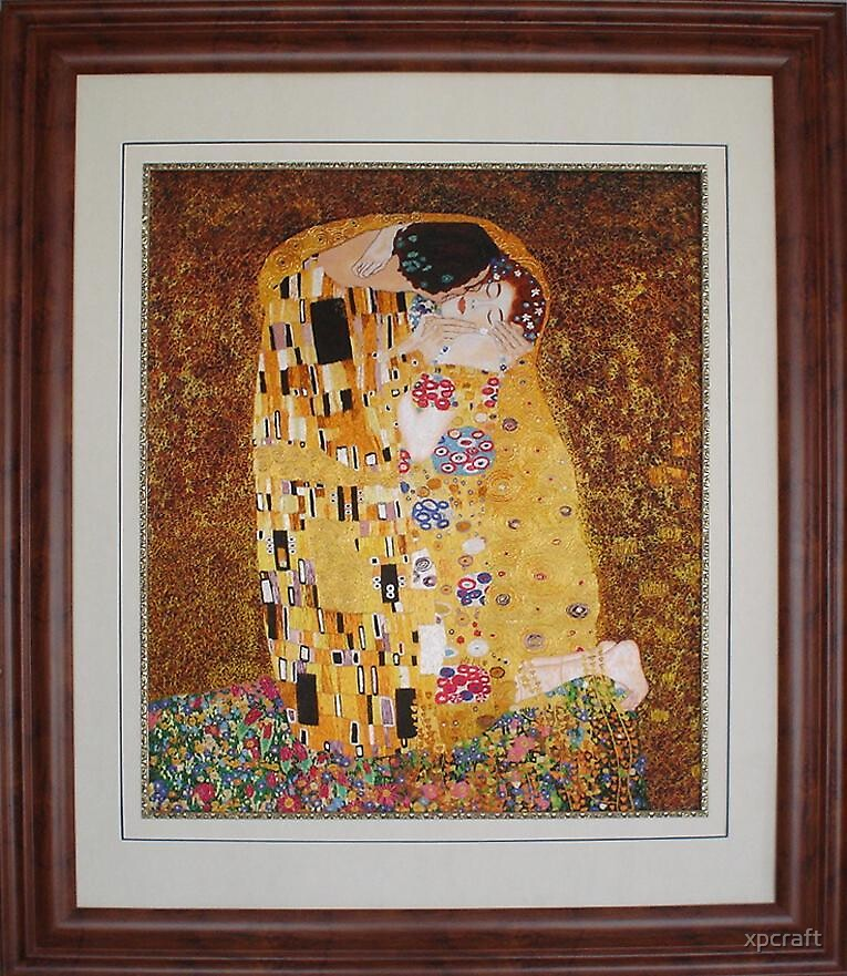 Chinese hand embroidery painting - The kiss by xpcraft
