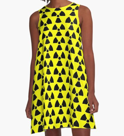 Warning Ionizing Radiation A-Line Dress