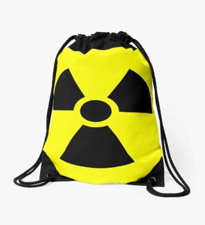 Warning Ionizing Radiation Drawstring Bag