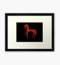Etruscan Horse Framed Print