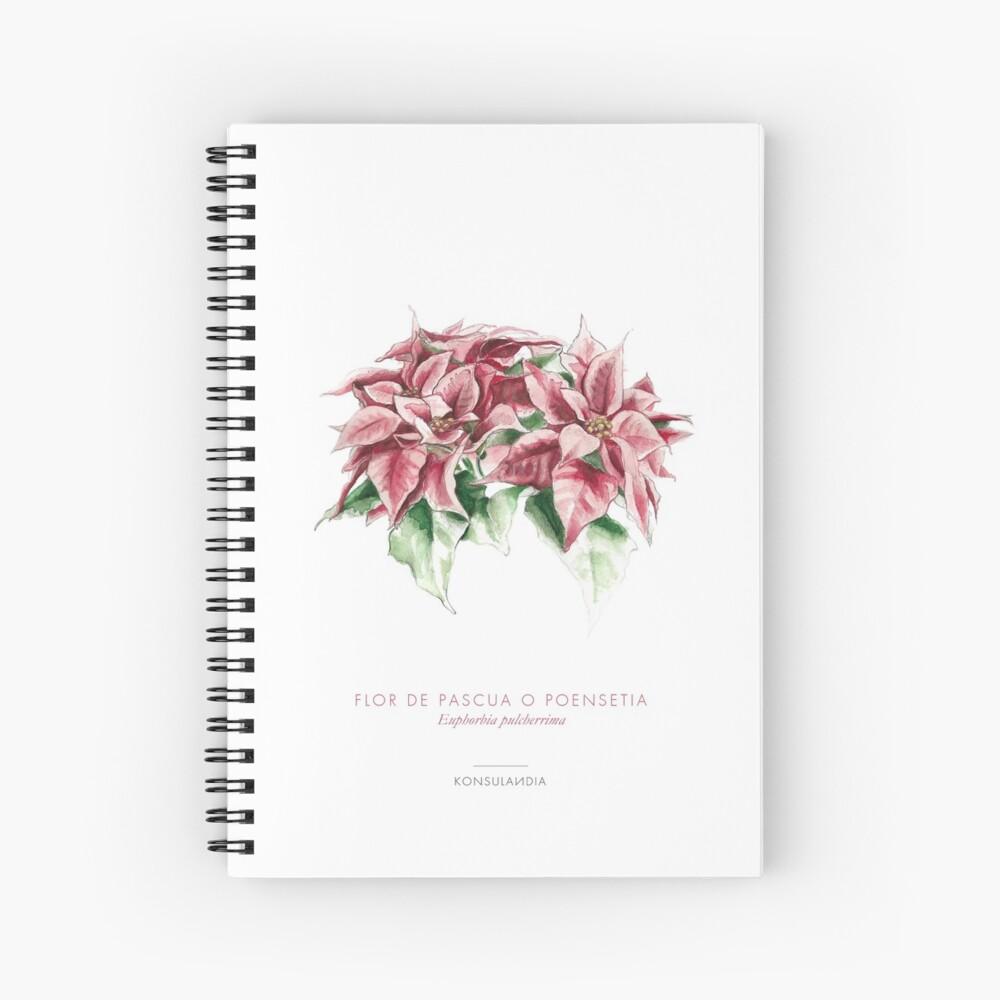 Flor de pascua Cuaderno de espiral