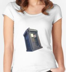 Lego TARDIS Women's Fitted Scoop T-Shirt