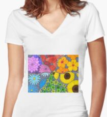 Enchanted Garden Women's Fitted V-Neck T-Shirt